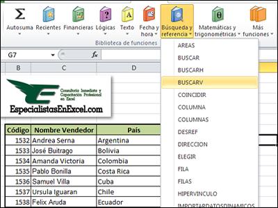 Funcion BuscarV en Excel 2010, Función ConsultaV