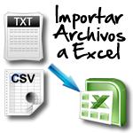 Importa archivos de formato TXT y CSV a Excel