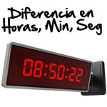 Calculo diferencia en Horas, Minutos y Segundos Excel entre dos fechas.
