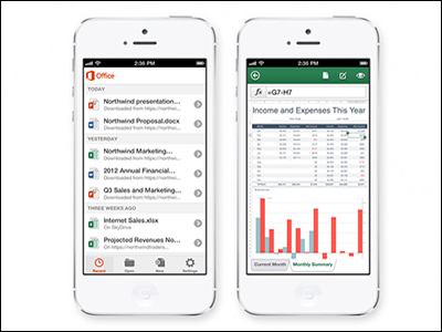 Noticias Excel: Office 365 para iPhone
