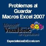 Cómo guardar Macros en Excel 2007
