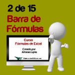 Barra de fórmulas de excel