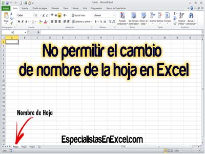 No permitir el cambio de nombre de la hoja en Excel