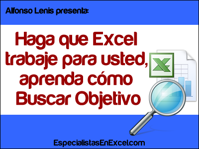Buscar Objetivo Excel