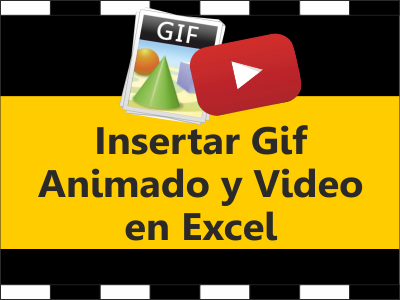 Insertar Gif animado y video en Excel