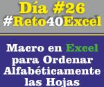 Macro en Excel para ordenar Alfabéticamente las hojas