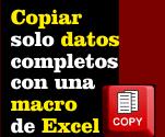 Copiar con una macro de Excel solo datos completos