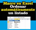 Ordenar automáticamente un listado - Macro en Excel