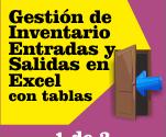 Gestión de inventario con entradas y salidas en Excel