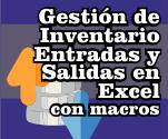 Gestión de inventario entradas y salidas en Excel con macros