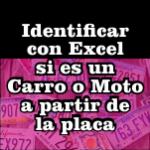 Identificar en Excel si es carro o moto