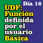udf función definida por el usuario