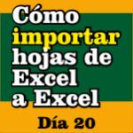 Cómo importar hojas de Excel a Excel