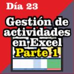 Gestión de actividades en Excel