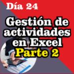 Gestión de actividades en Excel, cronograma en Excel