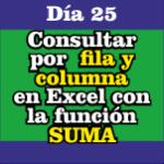 Consultar por Fila y Columna en Excel con la función SUMA