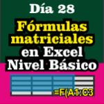 Fórmulas Matriciales en Excel