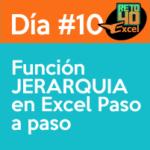 dia10 reto40excel capacitación en Excel función JERARQUIA