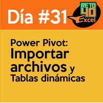 dia 31 reto40excel-Power-Pivot-Importar-archivos-y-Tablas-dinámicas