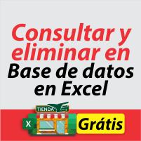 Consultar y eliminar en Base de datos en Excel